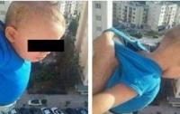 Алжирец вывесил двухлетнего сына из окна 15-го этажа ради лайков