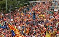 Тысячи человек вышли на митинг за независимость Каталонии
