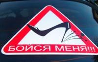 Женщина-водитель протаранила Mercedes и снесла забор (видео)