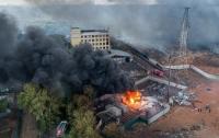 Под Москвой случился пожар на опасном предприятии
