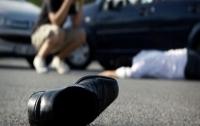 В Киеве на шестиполосной трассе сбили пьяного пешехода