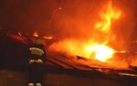 В Днепре полночи тушили масштабный пожар (видео)