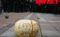 Митингующие под Радой применяли против милиции спецсредства (ФОТО)