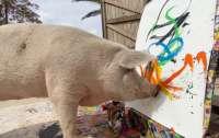 Нарисованный свиньей портрет принца Гарри продали за $3260