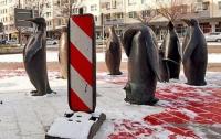 В Германии появились охотники на скульптуры пингвинов