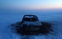 На Волыни грабители напали на женщину и сожгли автомобиль