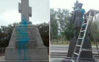 В Полтаве осквернили памятник Петру I и крест на братской могиле