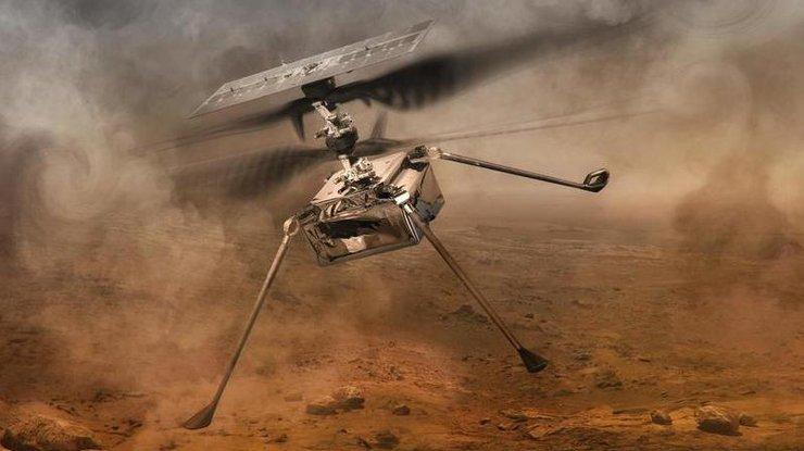 Вертолет Ingenuity на Марсе совершил полет в один конец
