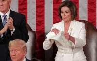 Пелоси разорвала текст речи Трампа в Конгрессе