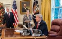Трамп обратился к нации из Овального кабинета (видео)