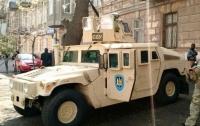 Одессу начал патрулировать спецназ на боевой технике