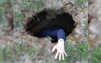 В Запорожье женщина провалилась под землю