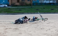 В Днепре посреди дороги умер велосипедист