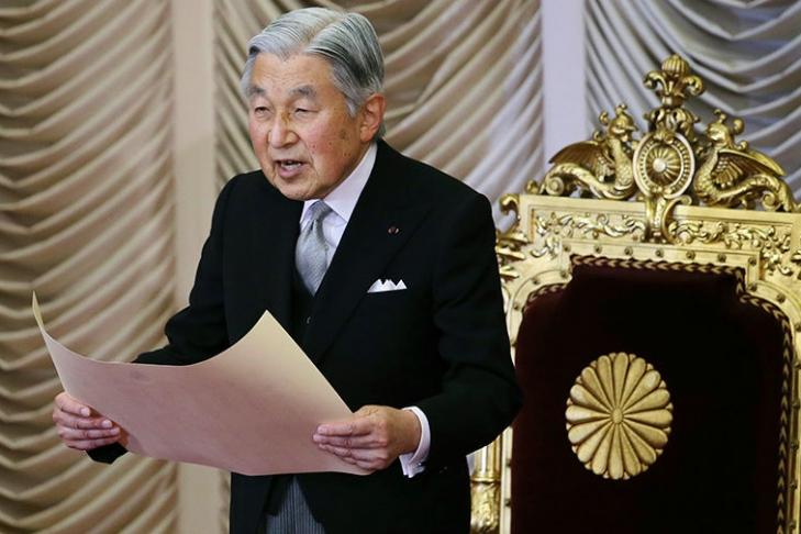 Путин поздравил императора Японии Акихито сднем рождения