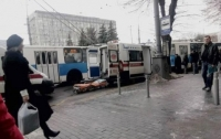 У троллейбуса оторвалось колесо, есть пострадавшие