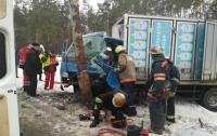 В Киеве водителя зажало в грузовике после ДТП