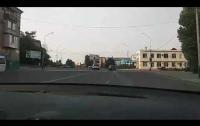 Автохам из России порадовал украинцев (видео)