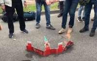 Москва выразила протест Украине из-за сожжения Кремля