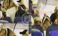 Девушка в самолете использовала нижнее белье в качестве защитной маски