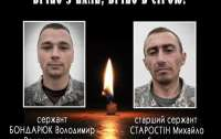 Стали известны имена героев погибших на Донбассе вчера