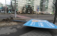 Ураган доставил массу проблем жителям Львова (фото)