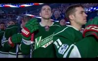 Украинский хор поразил хоккейных фанатов в Канаде (видео)