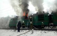 В Полтавской области горел поезд