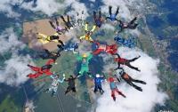На Харьковщине парашютисты установили рекорд Украины