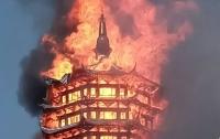 СМИ: В Китае сгорела самая высокая деревянная пагода в Азии