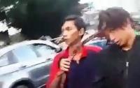 Драчуна доставили в больницу с серпом в голове