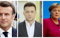 Появились подробности разговора Зеленского с Меркель и Макроном