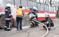 Троллейбус загорелся в Николаеве