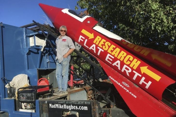 ВСША стороннику теории плоской Земли неразрешили взлететь насамодельной ракете