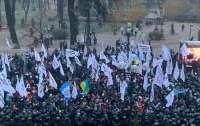 Под Радой произошли стычки из-за голосования нардепов в зале (видео)