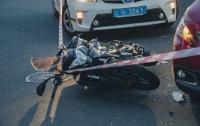 ДТП в Киеве: байкер врезался в иномарку