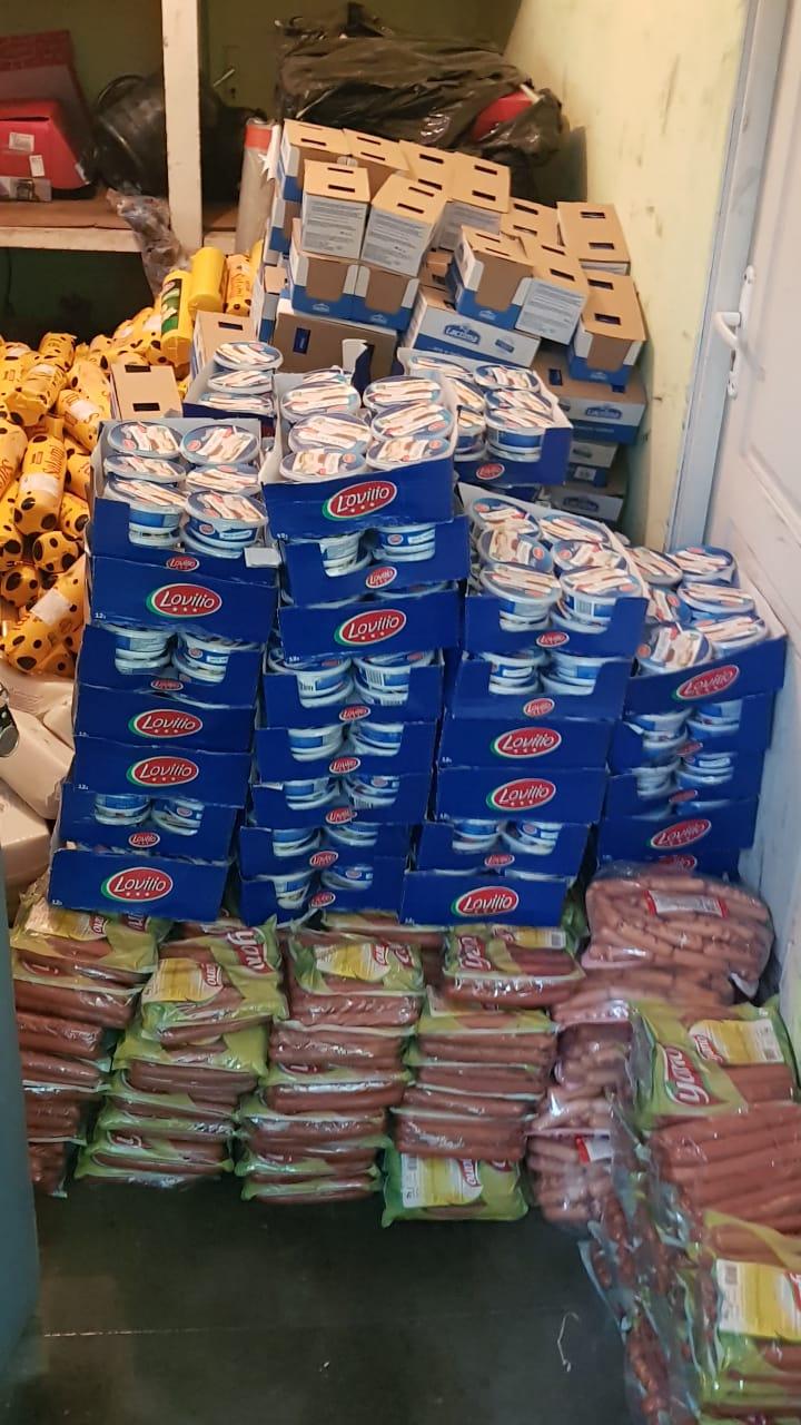 Пограничники нашли несколько тонн еды и питья