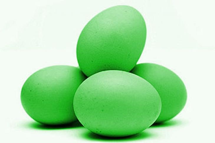 Как сделать зеленые яйца