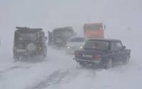 Целая трасса в сторону Киева заблокирована снегом
