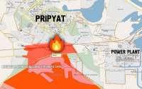Пожар в Чернобыльской зоне расползается