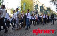 Во Львове прошел марш в честь дивизии СС «Галичина» (ФОТО)