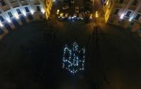 Живой герб в память о героях Небесной сотни создали в Одессе (видео)