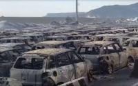В Италии сотни автомобилей сгорели в пожаре