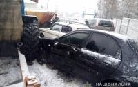 На Харьковщине полицейское авто неудачно припарковали (ФОТО)
