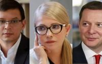 Мураев, Ляшко и Тимошенко возглавили рейтинг самых богатых чиновников-кандидатов в президенты