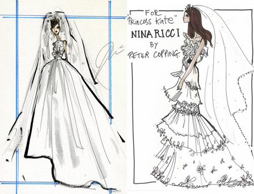 25a38077092 Самые известные дизайнеры сделали эскизы свадебного платья для ...