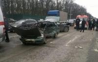 ДТП в Харькове: водителя раздавило после столкновения машин
