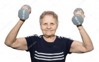 Если не знаете, что подарить бабушке - подарите гантели и спортивное питание