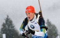 Украинская биатлонистка выиграла