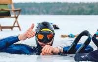 Француз установил мировой рекорд по фридайвингу подо льдом