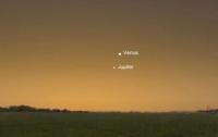 Пользователи сети опубликовали видео сближения Юпитера и Венеры